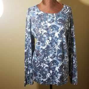 3for$20 - blue floral tunic
